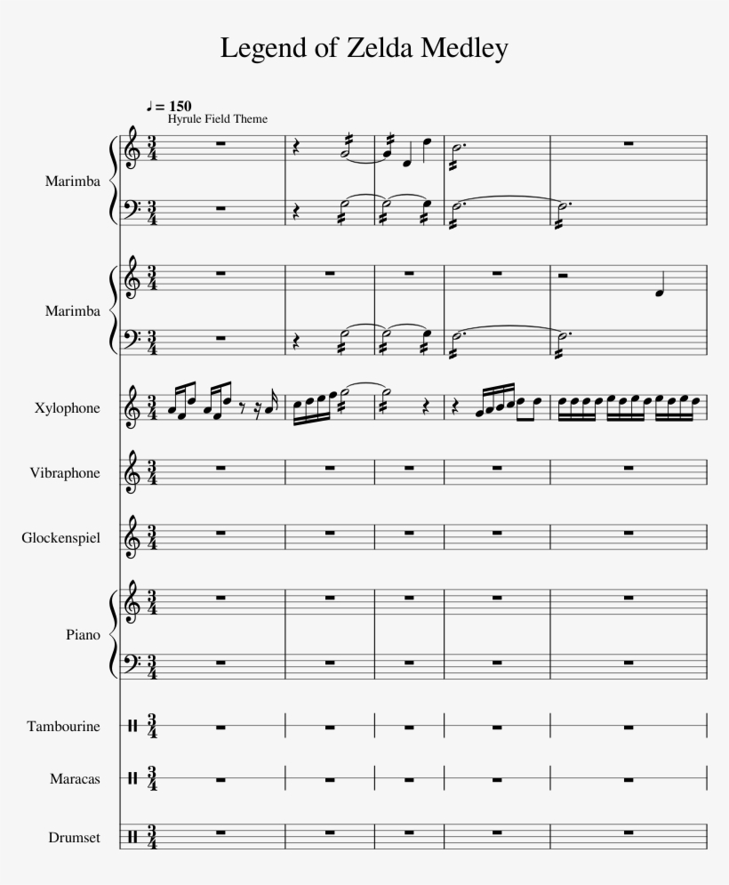 Legend Of Zelda Medley Sheet Music 1 Of 59 Pages Sheet Music Free Transparent Png Download Pngkey