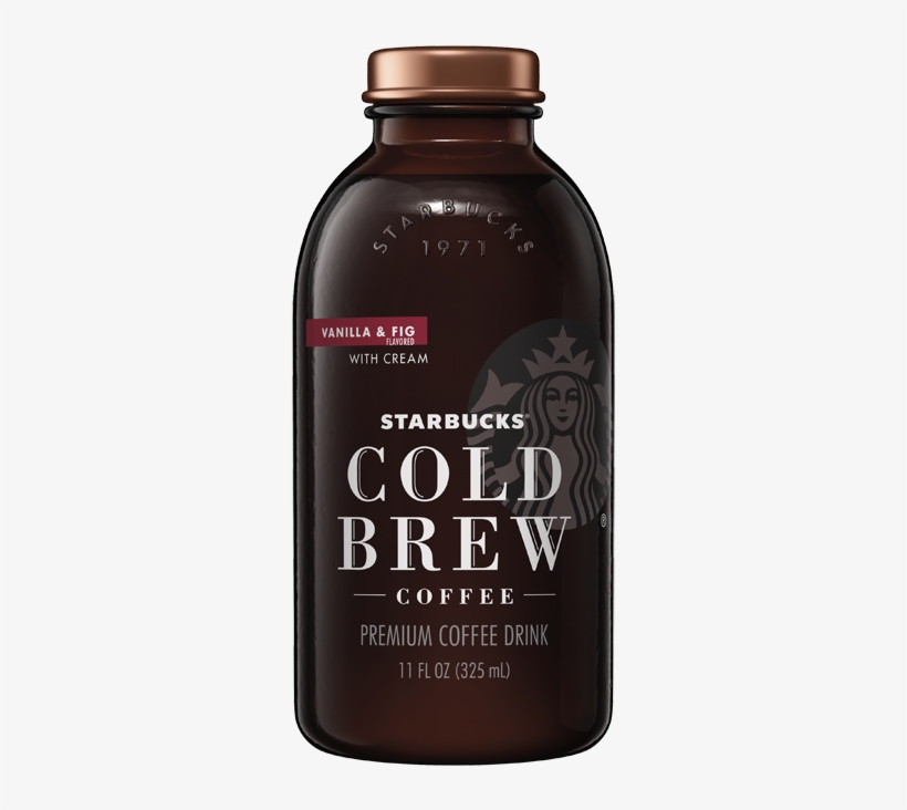 Starbucks Cold Brew Coffee Vanilla & Fig - Starbucks Cold Brew Cocoa And Honey, transparent png #9110043