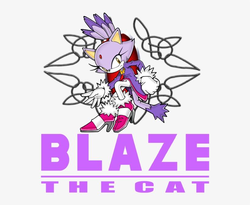 Blaze The Cat - Blaze The Cat Logo Png, transparent png #9113115