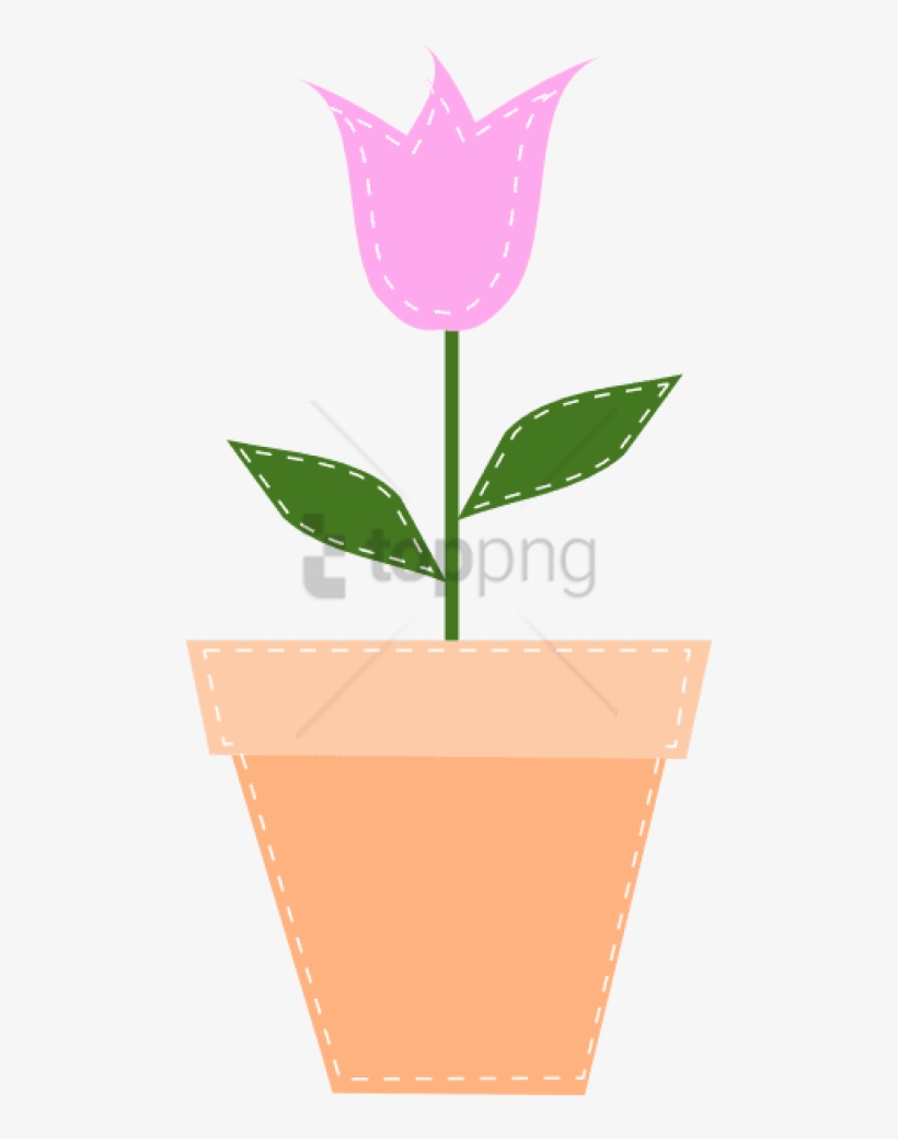 Free Png Download Mothers Day Border Png Images Background Pink Flower Pot Clipart Free Transparent Png Download Pngkey