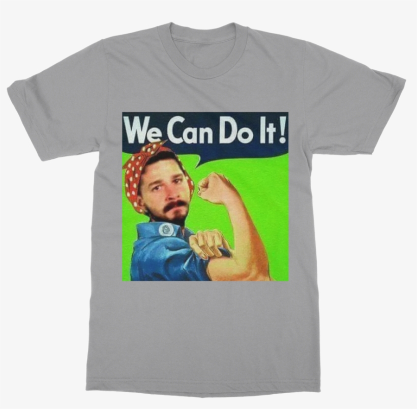 We Can Do It Meme classic Adult T-shirt - We Can Do It Poster Meme, transparent png #9120977