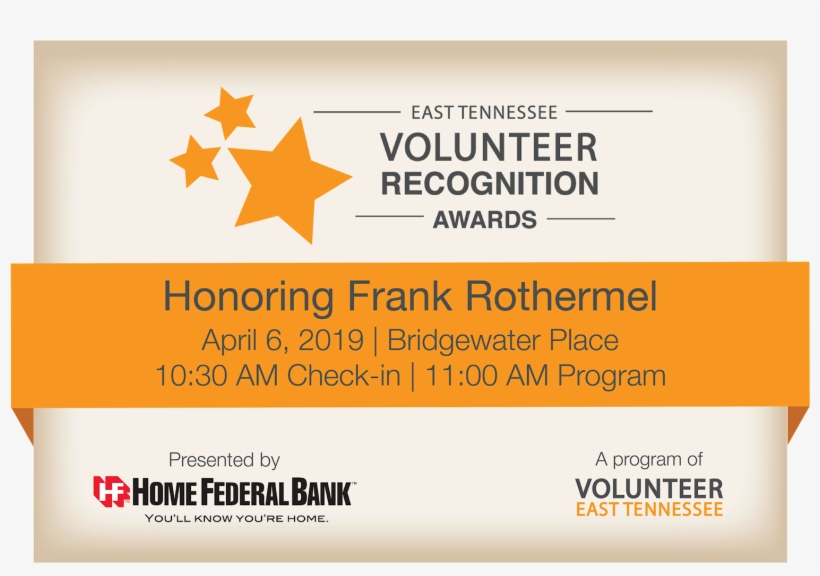 The 4th Annual East Tennessee Volunteer Recognition - Frederick County Bancorp, Inc., transparent png #9124435