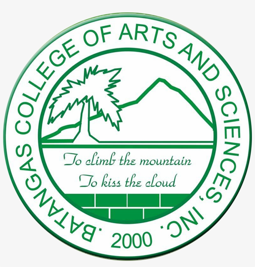The Logo Of The School Was Inspired By Mount Maculot - Batangas College Of Arts And Sciences Logo, transparent png #9125003