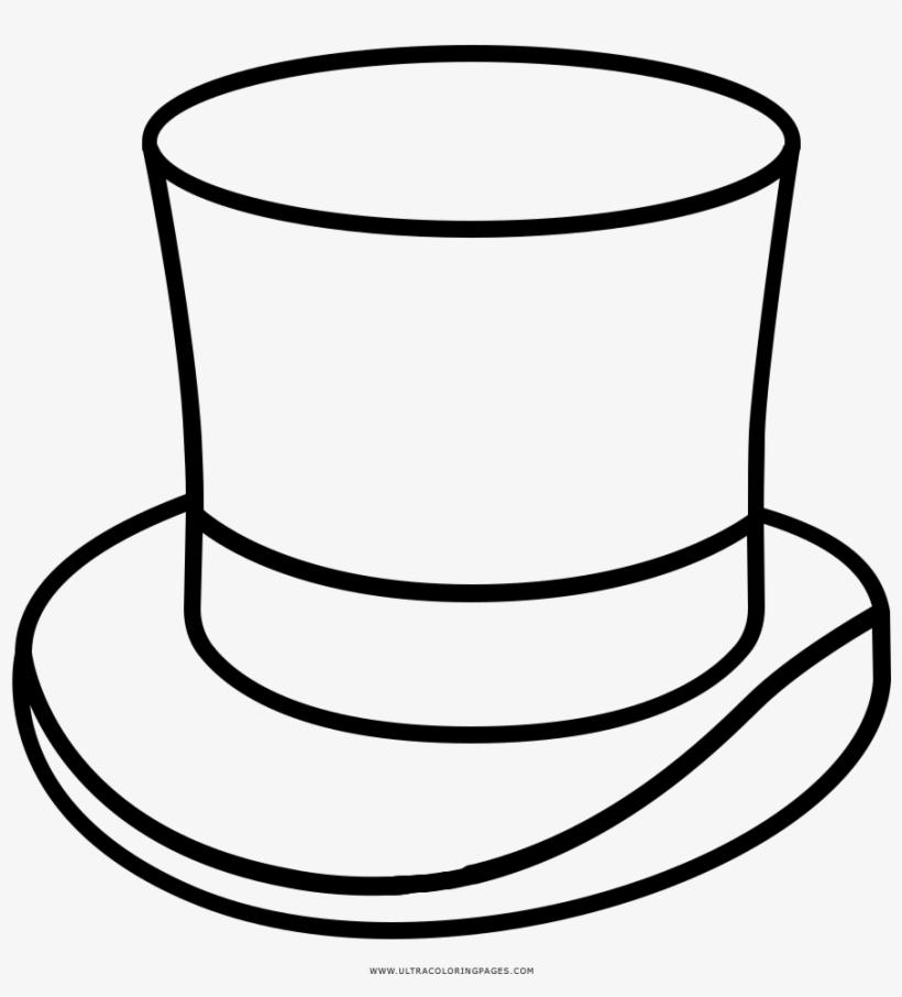 Dibujo De Sombrero Copa Para Colorear Ultra Coloring Molde