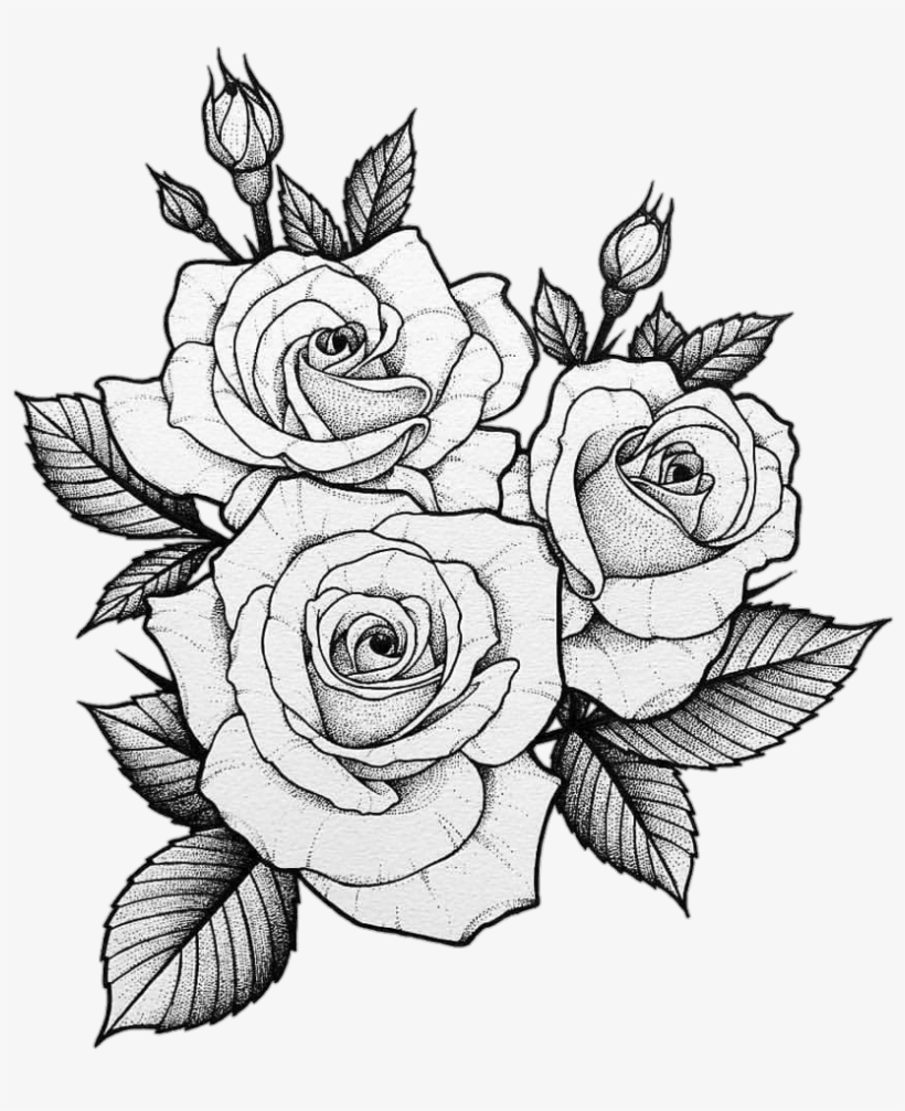 #tumblr #tatto #roses - Two Roses Tattoo Design, transparent png #9133192