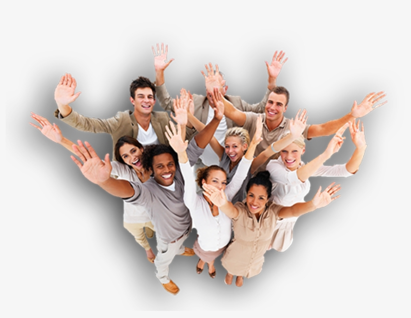 Make More People Know About You - Happy People With Hands Up, transparent png #9139416