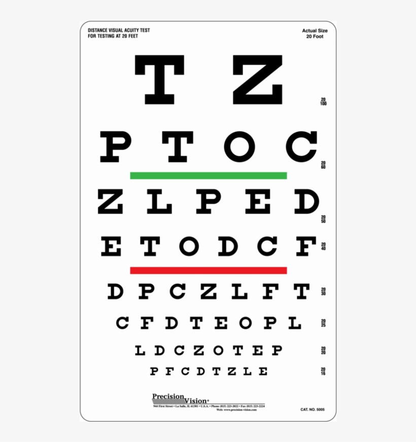 photo about Printable Snellen Chart referred to as 1 Sided Snellen Eye Try out Chart 3m - Eye Try out Chart For