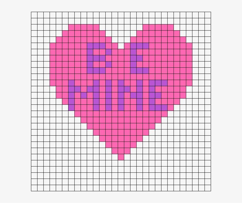 Be Mine Heart Perler Bead Pattern Mario Mushroom Pixel Art