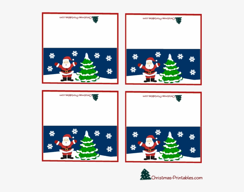 Png Library Clipart Place Cards - Xmas Table Place Names Template, transparent png #9160686