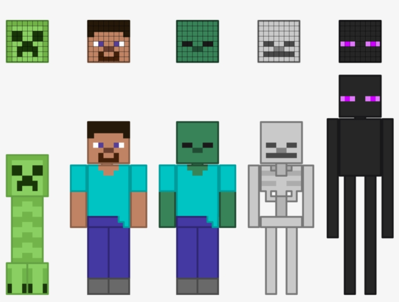 Minecraft Vector Character - Characters From Minecraft, transparent png #9180697