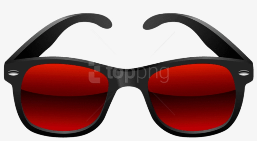 Free Png Download Black And Red Sunglasses Clipart - Sunglass Png For Pics Art, transparent png #9180931