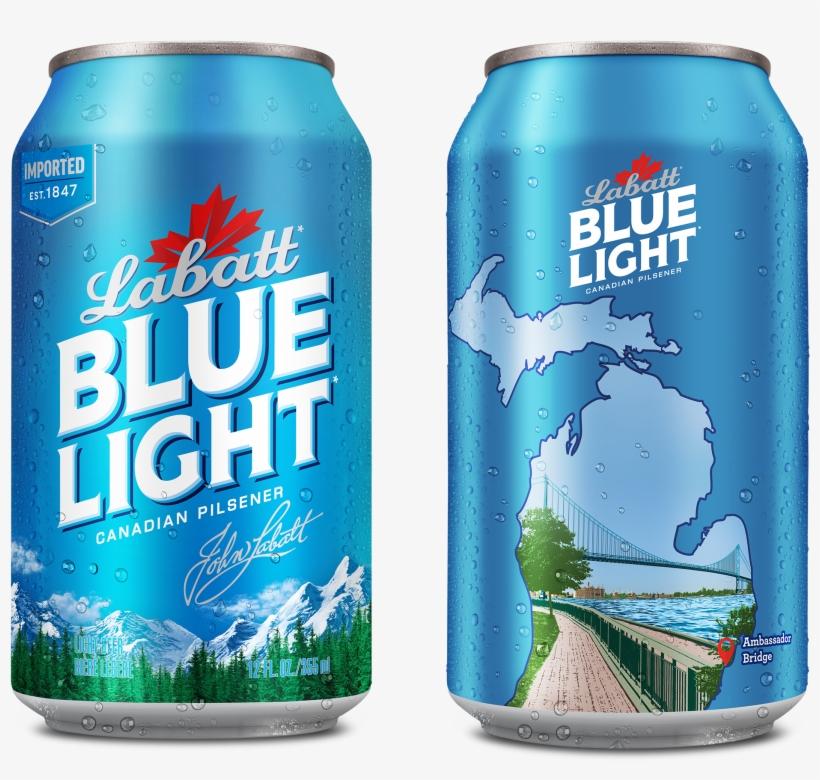 Ambassador Bridge Will Be Featured On Limited-edition - Labatt Blue Light Can, transparent png #9182246