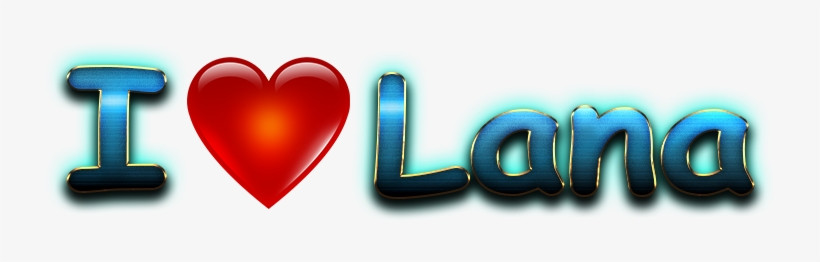 Lana Love Name Heart Design Png - Saima I Love You Name, transparent png #9182787