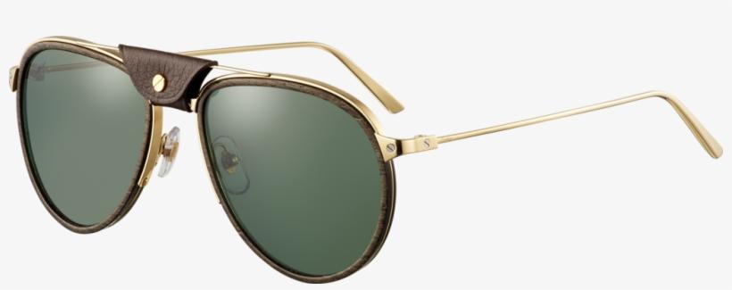 Gafas De Sol Santos De Cartierlentes Con Montura De - Aviator Sunglass, transparent png #9185659