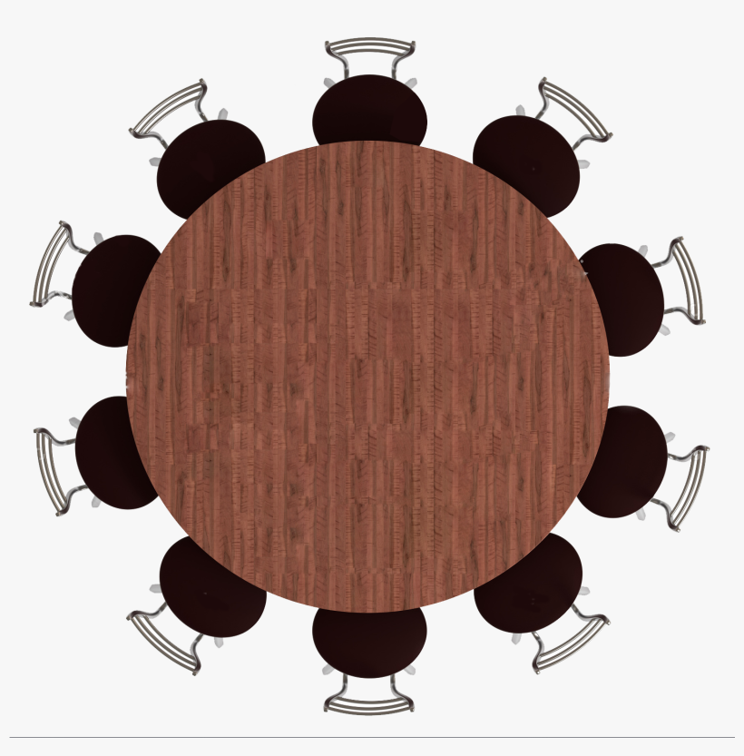 Top View Png - Round Table Top View Png, transparent png #9195155