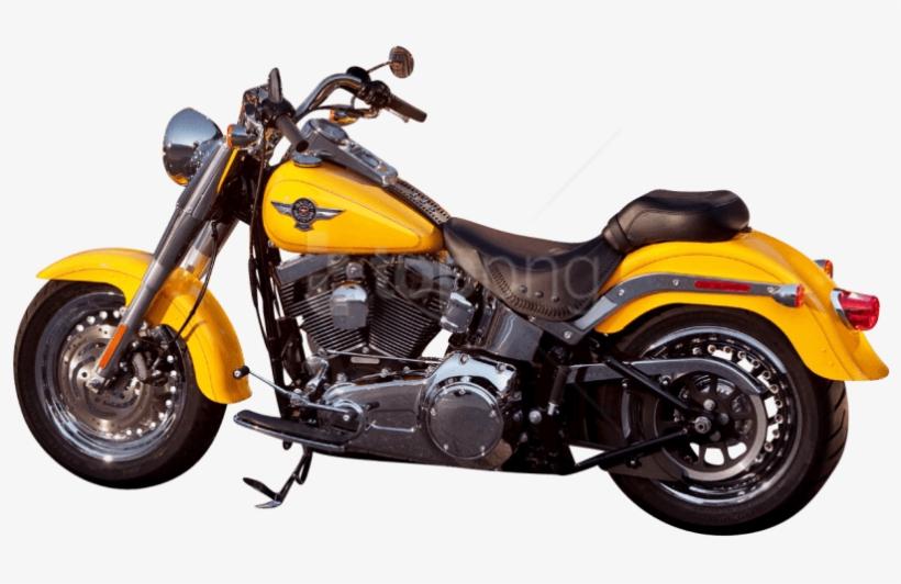 Free Png Download Harley Davidson Yellow Motorcycle - Yellow Harley Davidson Motorcycle, transparent png #9195291
