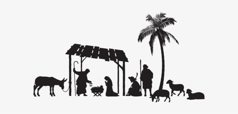 Nativity Scene Silhouette Png Clip Art Image - Nativity Silhouette Png, transparent png #922897