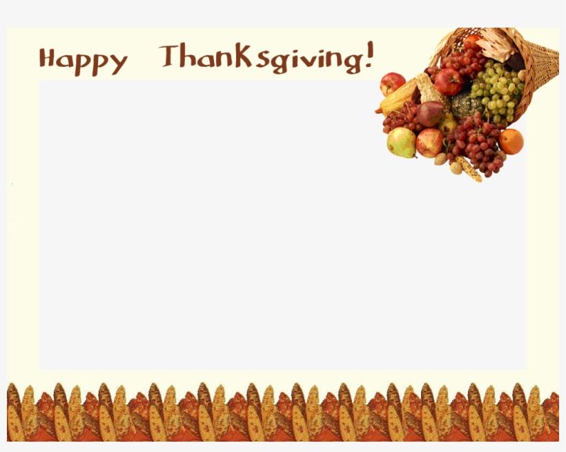 Thanksgiving Border Png - Thanksgiving Day Frame Png, transparent png #923436