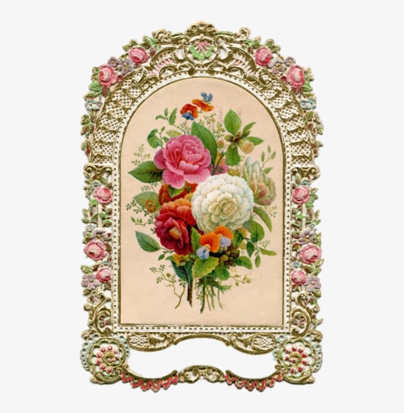 Bouquet Vintage Frame Png, transparent png #923541