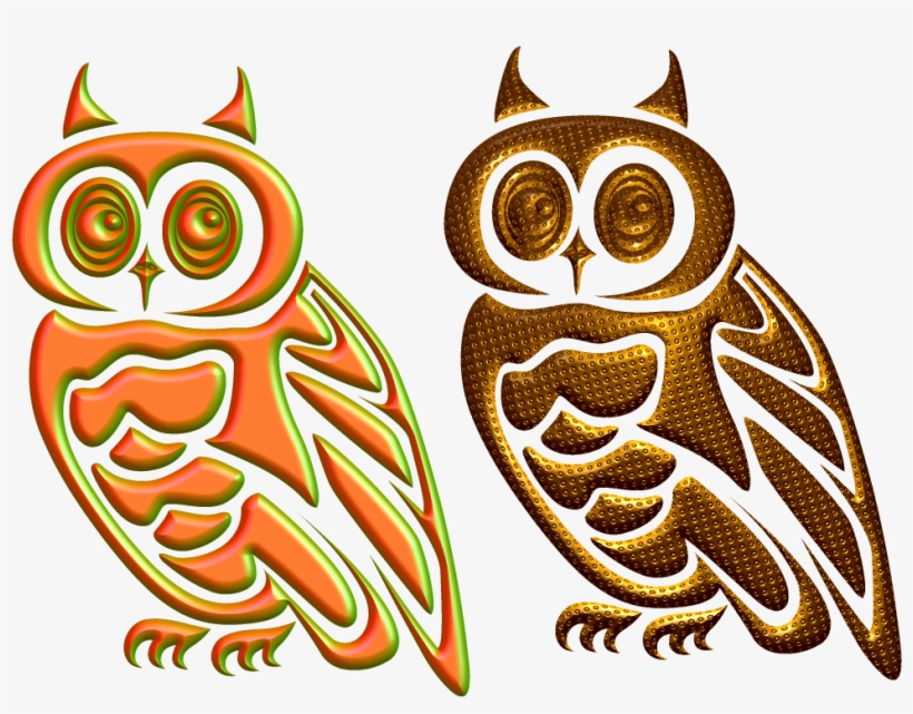 Golden Owl Png,graphic Design Studies - Car Stickers Adorable Owl Sticker, transparent png #924072
