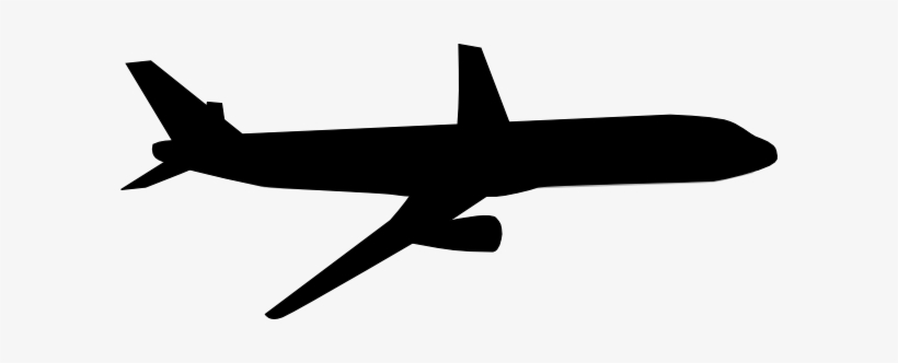 Airplane Silhouette Clip Art Black And White Airplane Free