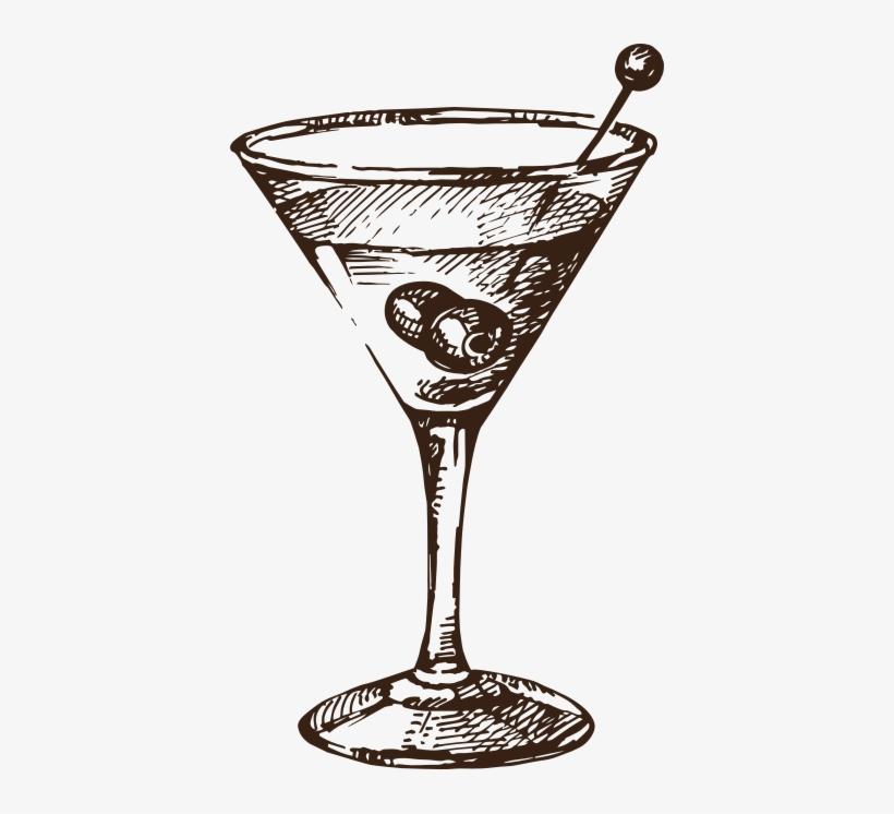4 - Svg - Cocktail Glass Vector Vintage, transparent png #927364