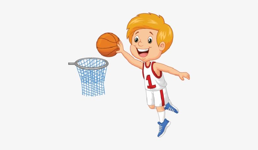 Funny Basketball Boy Stock Vector - Imagen De Basquetbol Animado, transparent png #927889