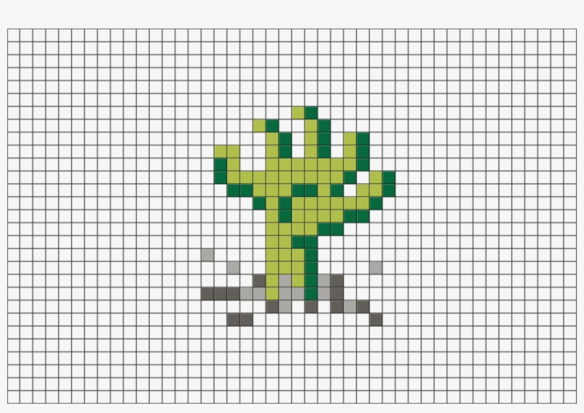 Zombie Hand Pixel Art Free Transparent Png Download Pngkey