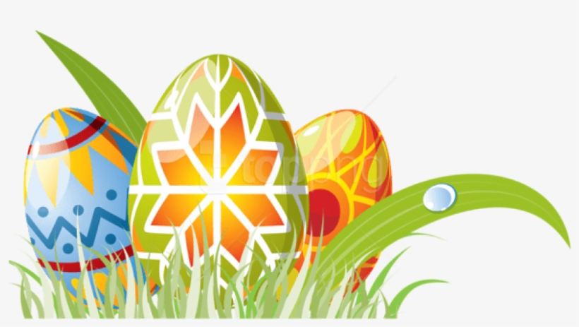 Free Png Download Easter Eggs With Grass Decoration - Easter Egg Grass Background Png, transparent png #9200310