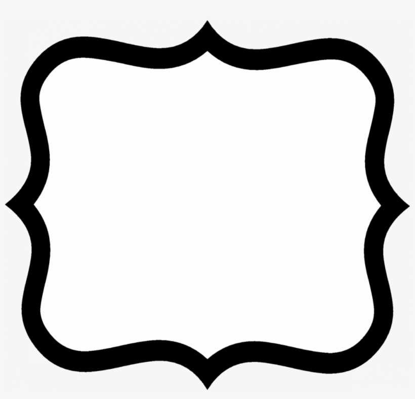 Fancy Sign Cliparts - Black And White Border Shapes - Free ...