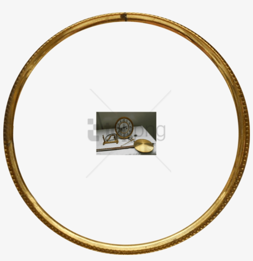 Free Png Gold Circle Frame Png Png Image With Transparent - Gold Round Picture Frames, transparent png #9202933