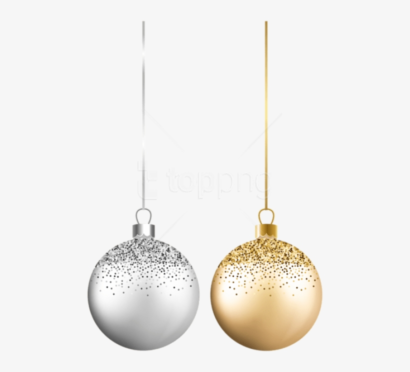Christmas Balls Silver Gold Png - Christmas Ball Silver, transparent png #9204554