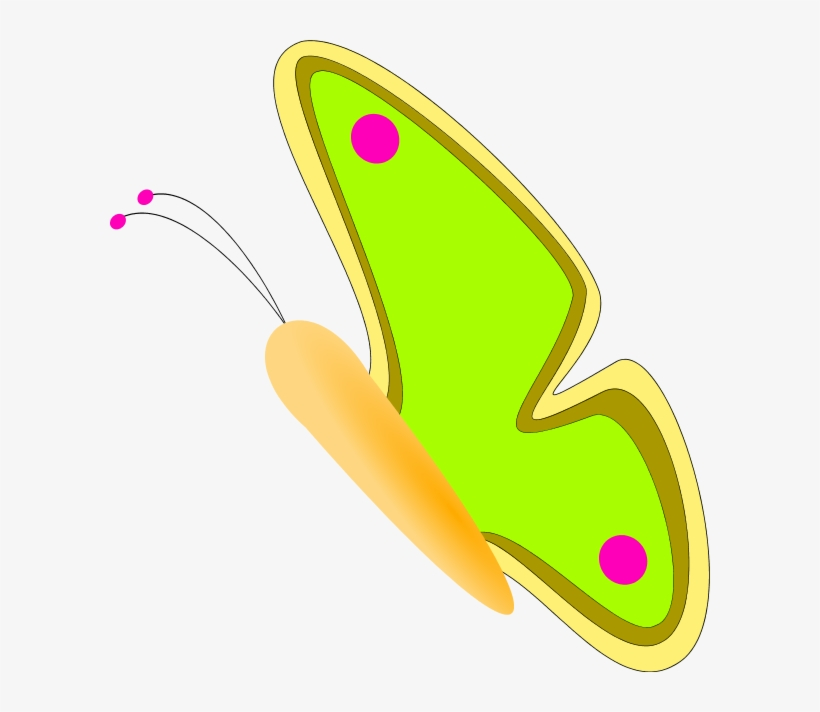 Butterfly Side View - Butterfly Clipart Side View, transparent png #9206237