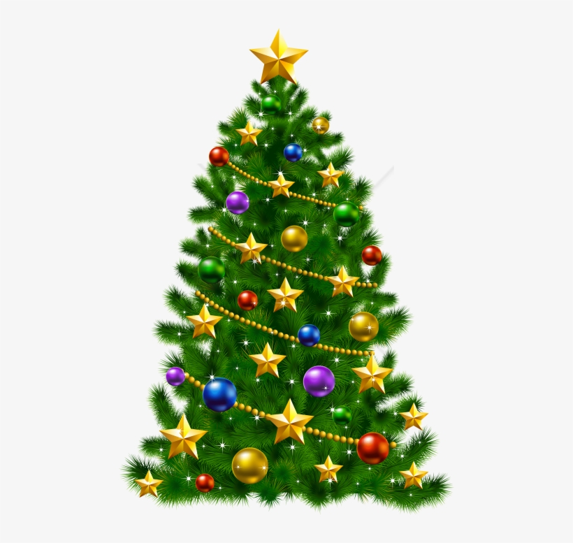 Free Png Download Christmas Tree With Stars Png Images - Christmas Tree With Stars, transparent png #9213524