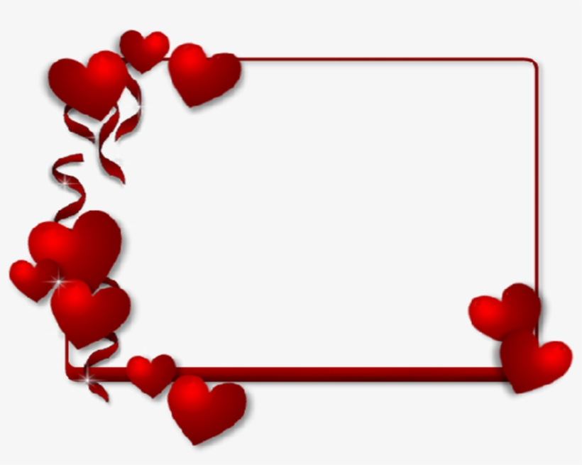 Frame Clipart Valentines Day - Heart Borders And Frames, transparent png #9216534