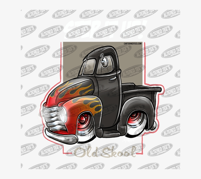51 Chevy Truck Flames - Pickup Truck, transparent png #9225367