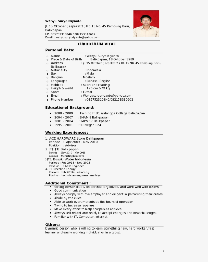 Curriculum Vitae Personal Data - Greenhouse Effect Description And Method Followed, transparent png #9227746