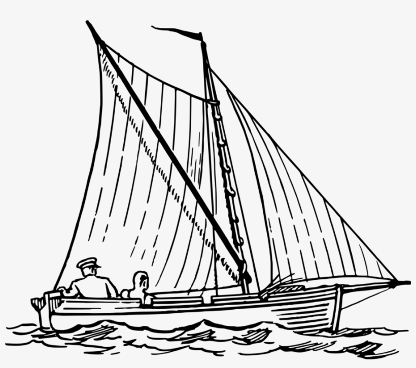 All Photo Png Clipart - Ocean With Boat Drawing, transparent png #9229564