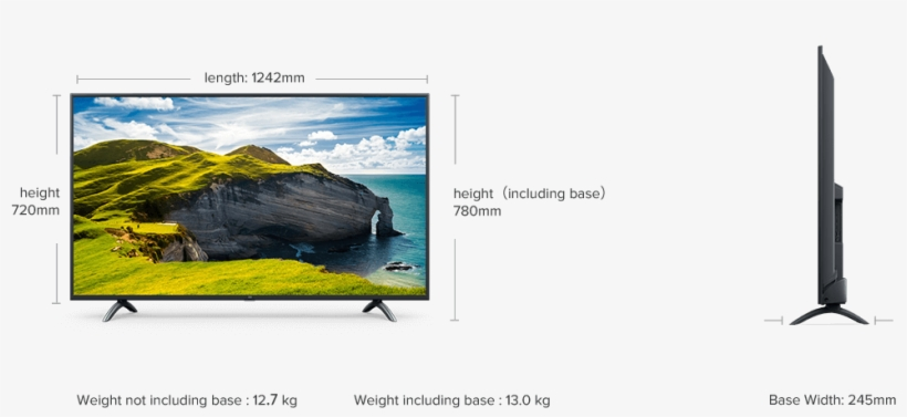 Mi Led Tv 4x Pro - Xiaomi Mi Led Tv 4x Pro 55, transparent png #9231260