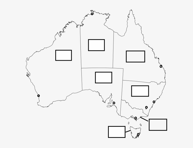 Map Of Australia Showing States And Capital Cities.600 X 547 3 Blank Map Of Australia With States And Capital