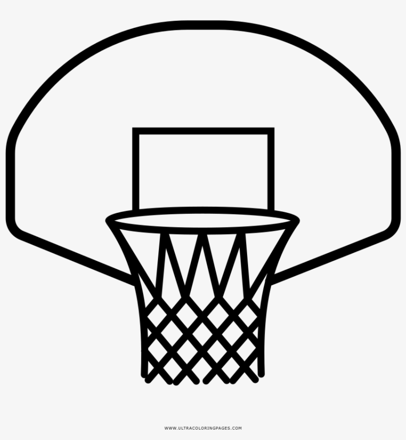 Basketball Hoop Coloring Page Ultra Pages - Basketball Hoop Drawing Easy, transparent png #9249043