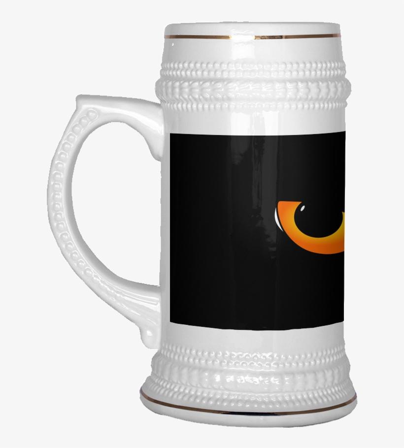 Evil Cat Eyes Beer Stein - Funny Beer Mugs, transparent png #9251850