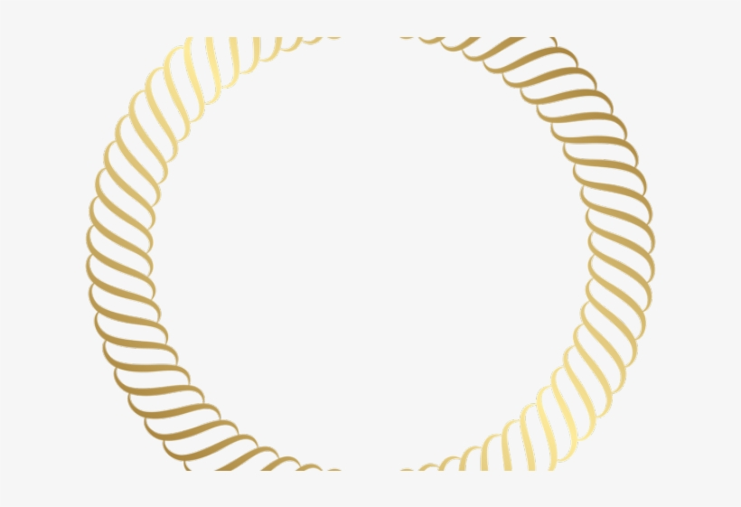 Rope Clipart Golden Circle - Gold Border Png, transparent png #9257580
