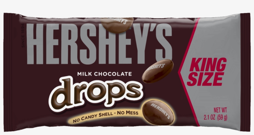 Candy Bar Clipart King Size - Hershey's Drops Milk Chocolate, transparent png #9268430