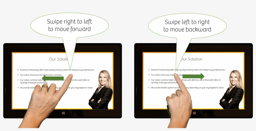 Swipe To Move Forwards Or Backwards In Your Presentation - Difference Between Swipe Right And Left, transparent png #9268838