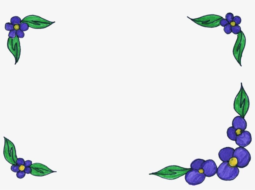 Png File Size - Transparent Flower Simple Frame, transparent png #9270300