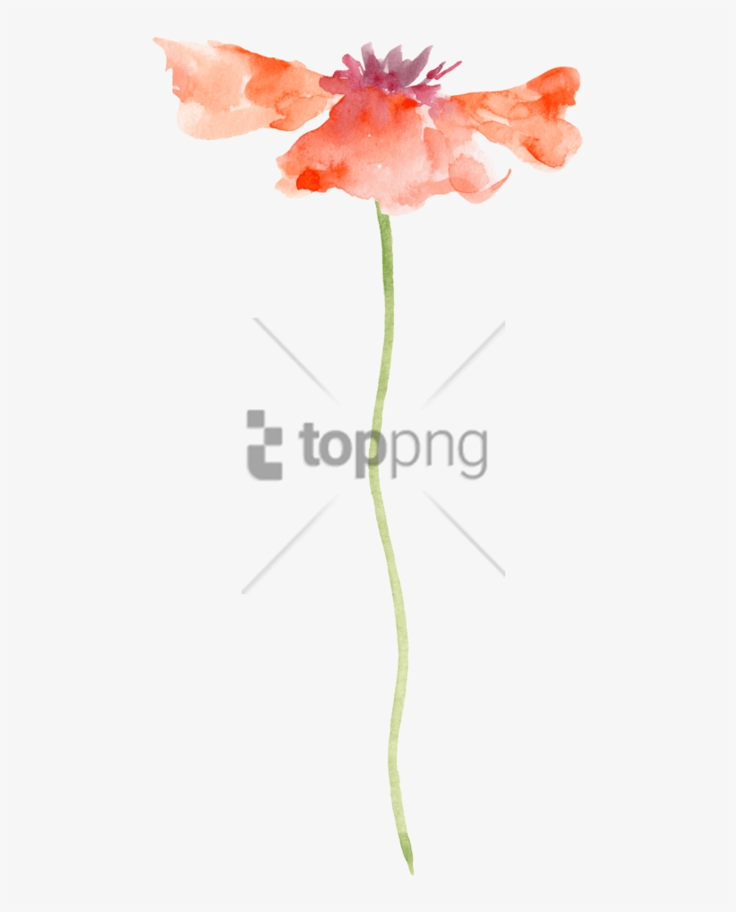 Free Png Transparent Watercolor Painting Flower Png - Flower Painting Watercolor Transparent, transparent png #9272875