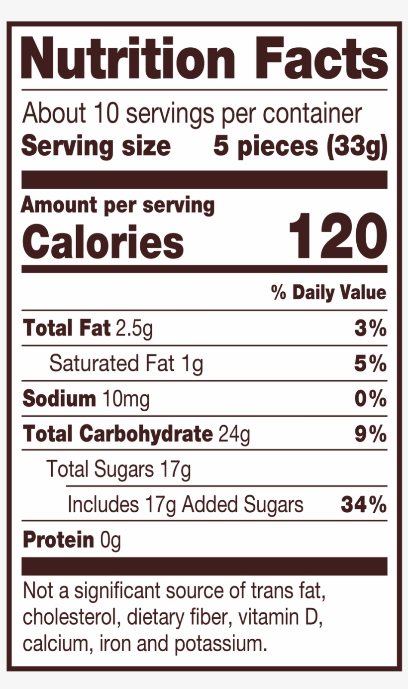 Tootsie Fruit Chews Assorted Fruit Flavored Rolls, - Nutrition Facts, transparent png #9273618