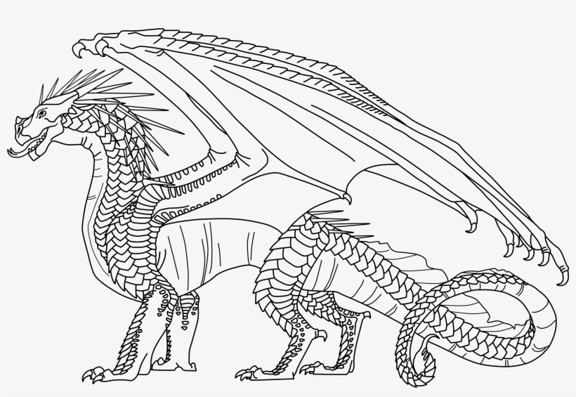 Fire Coloring Pages Dragonet Wings