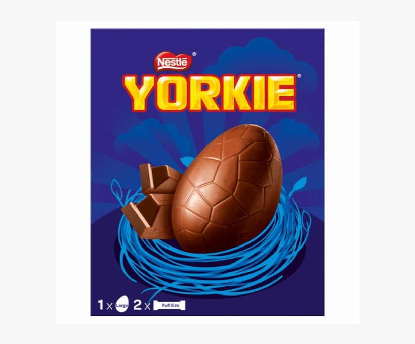 Nestle Yorkie Easter Egg Plus Two Yorkie Chocolate - Nestle Large Egg, transparent png #9283818